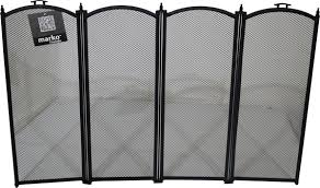 stylish folding black fireplace safety guard fireguard firescreen