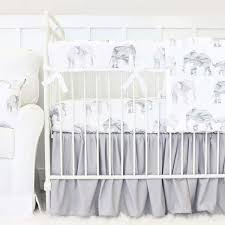 gray marble elephant parade bumperless crib bedding caden