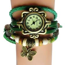 vintage bracelet watches images Antique leather bracelet watch vintage women wrist watch butterfly jpg