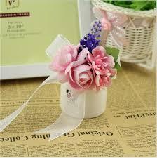 Curtain Band Online Shop 10pcs Lot Wrist Flower Rose Silk Bride Corsage Hand