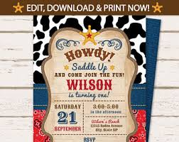 cowboy party invitations cowboy party invitations with a