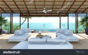 new 3d design model tropical resort stock illustration 617390171