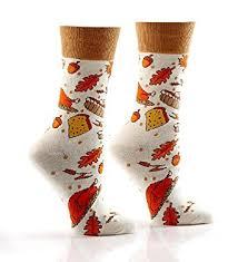 thanksgiving socks thanksgiving dinner turkey pumpkin pie women s crew socks by yo sox