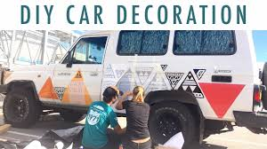 Diy Car Decor Diy Car Decor Application On The Troopy Youtube