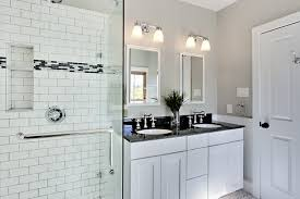Bathroom Design Ideas White Bathroom Design With Subway Tiles - Modern subway tile bathroom designs