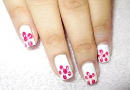 single flower print nail art step by step tutorial makeup and