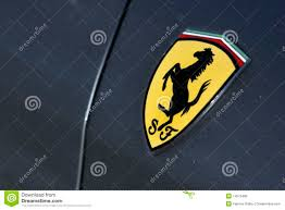 ferrari logo ferrari logo on gray sport car editorial image image 14572480