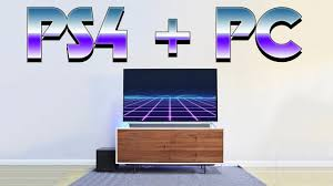 ps4 pro pc minimal living room gaming setup youtube