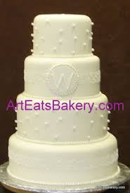 pearl monogram cake topper ribbons pearls wedding cake designs eats bakery s
