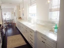 Kitchen Styles Galley Kitchen Style Small Farmhouse Galley Kitchen Design White Marble