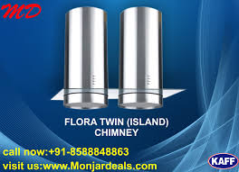 kaff flora twin is island kitchen chimney complete branded