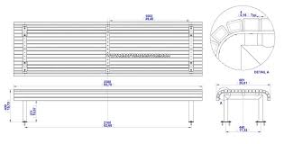 Simple Outdoor Bench Seat Plans by Bench Construction Drawing Google Search Construction