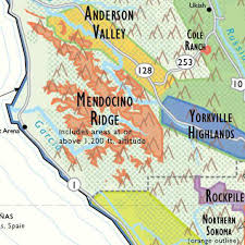 Sonoma Winery Map De Long U0027s Wine Map Of California The Wine Lover U0027s Collection