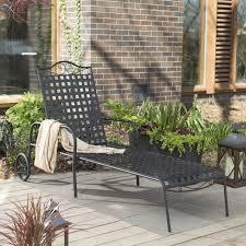 Woodard Patio Furniture - woodard wrought iron universal adjustable chaise lounge hayneedle