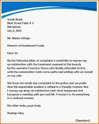 letter of complaint formal letter of complaint template complaint