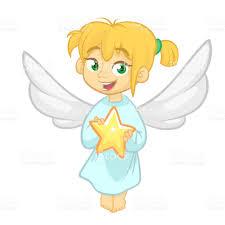 christmas angel christmas angel holding a vector illustration