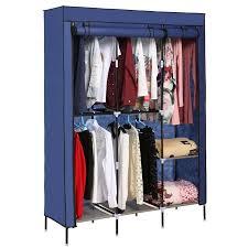 Wardrobe With Shelves by Homdox Portable Wardrobe Closet Storage Organizer Clothes Rack