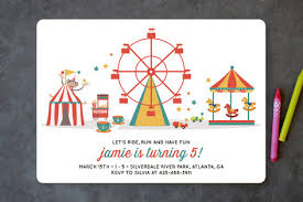 theme invitations theme park children s birthday party invitations minted