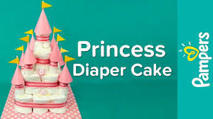 diaper cake ideas for baby girls princess castle diaper cake