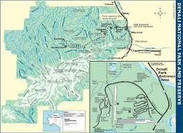 denali national park map denali national park and preserve the milepost