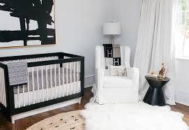 Black And Gold Crib Bedding Celebrity Design Reveal Emily Maynard U0027s Nursery Project Nursery