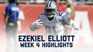 why does dallas play every thanksgiving every ezekiel elliott run u0026 catch cowboys vs 49ers nfl week 4