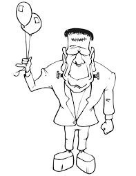 frankenstein with two balloons coloring page download u0026 print