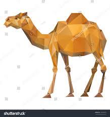 vector camel geometric illustration many triangles stock vector