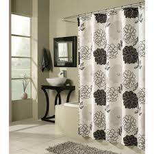 Cassandra Shower Curtain by M Style Ms8156 Blkw Summer Garden Shower Curtain The Mine