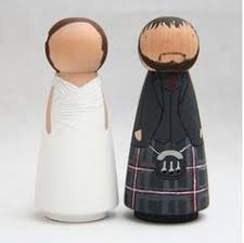 the original custom wedding cake toppers scottish peg doll goose