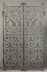 wrought iron room divider art deco hand wrought iron gates cottone auctions