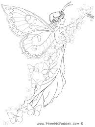butterfly fairy coloring