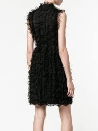 givenchy sleeveless ruffled lace dress 001black women clothing