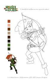 Coloriage à imprimer Robin des bois  OUFtivi