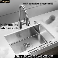 high end kitchen sinks tangwu stylish and high end kitchen sink 1 2mm thick food grade 304