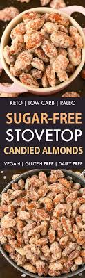 stove top gluten free easy stovetop sugar free candied almonds paleo vegan gluten free