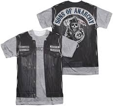 Sons Anarchy Halloween Costumes Sons Anarchy Mens Sublimation Shirt Unholy Costume