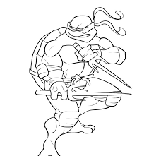 ninja turtle michelangelo coloring pages getcoloringpages