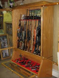 Built In Gun Cabinet Plans Picturesque Gun Closet Rack Roselawnlutheran