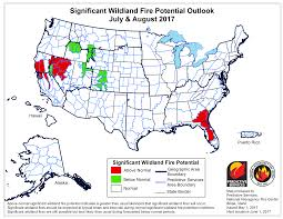 Idaho State Map by First Summer Fire Forecast Released For Idaho Boise State Public