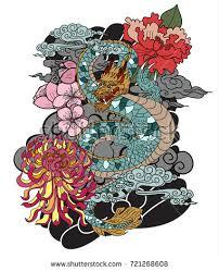 vector snake skull tattoo design banner stock vector 461598136