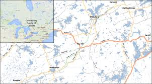capital of canada map http