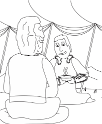 abraham and isaac coloring page jacob and esau coloring page our bible coloring pages