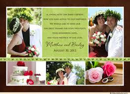 photo collage green wedding thank you card vintage