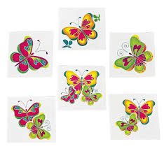 amazon com kids temporary butterfly tattoos 72 toys u0026 games