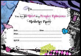 monster high birthday invitations blueklip com
