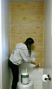 best 25 cheap bathroom makeover ideas only on pinterest cheap how to install a faux shiplap wall