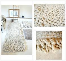 Hand Loomed Rug P A L O M I T A Hand Loomed Wool Bouclé Area Rugs Mexchic