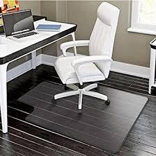 plastic floor cover for desk chair amazon com pvc matte desk office chair floor mat protector for
