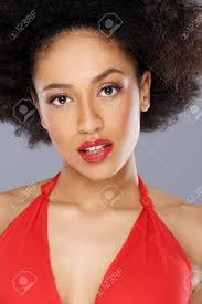 pictures of low cut hairs beautiful seductive african american woman with a big afro